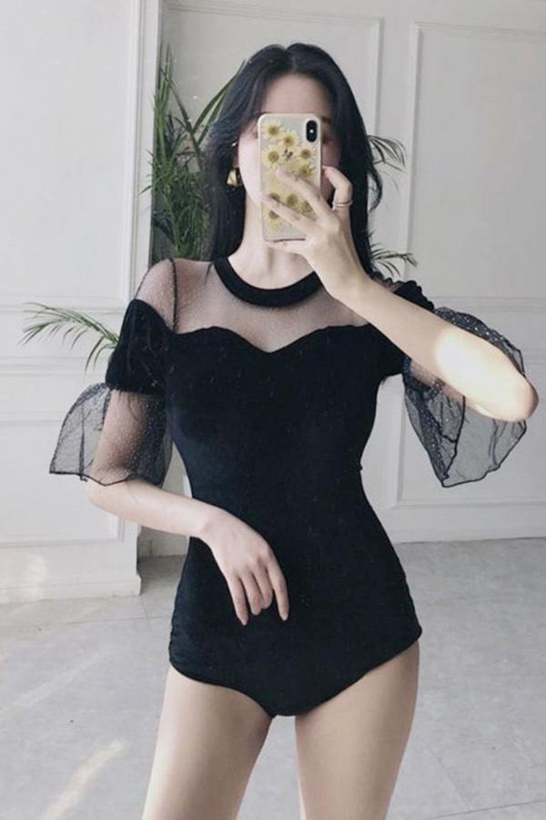 벨벳공주 섹시시스루 원피스수영복