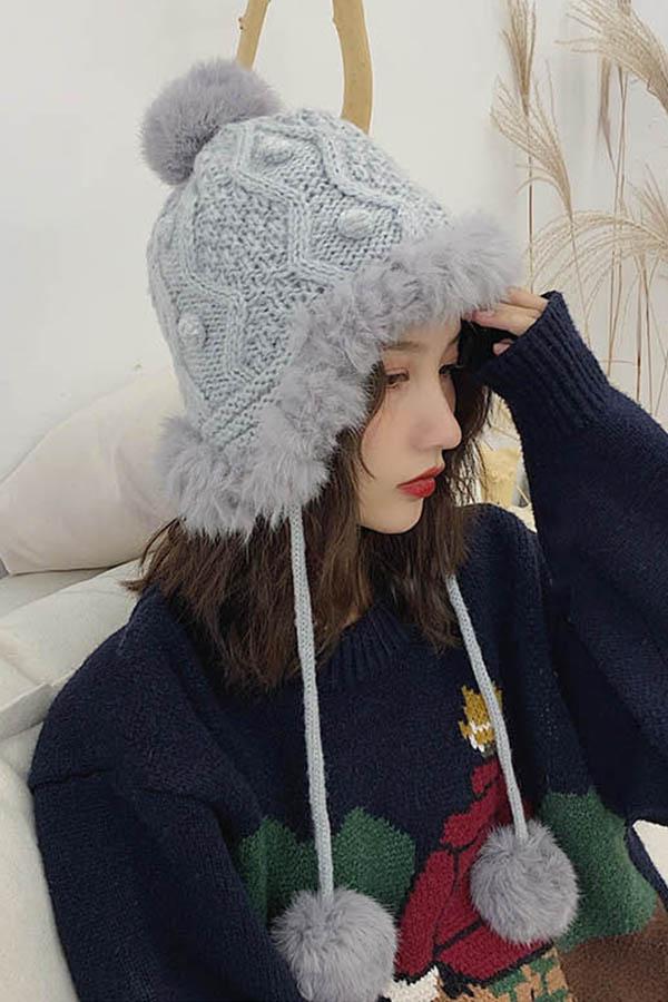 겨울아 기다려 귀달이 방울 여성모자 (5color)