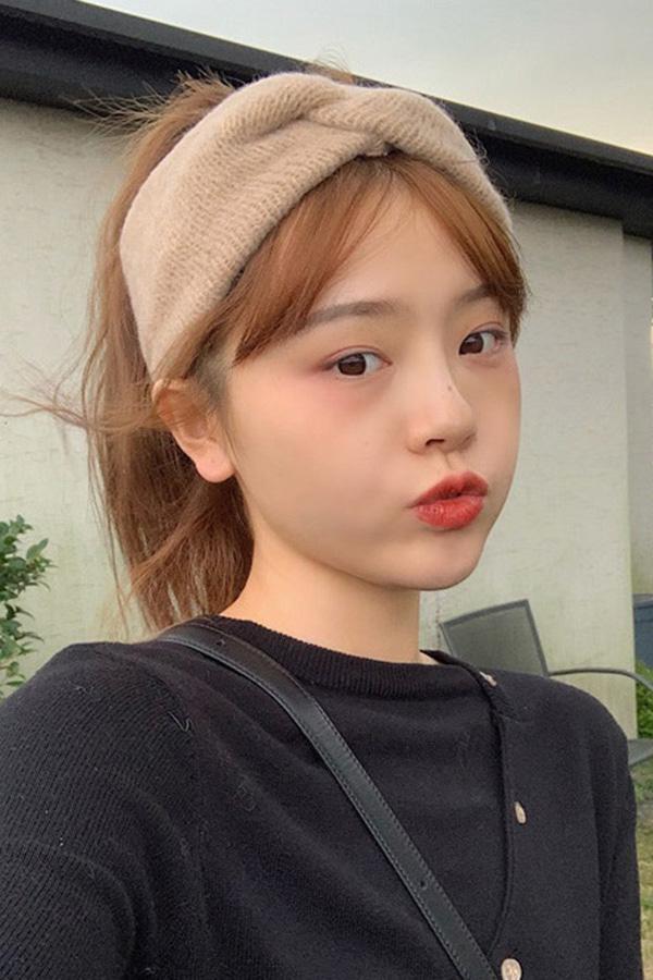 청순해 꼬임니트 두건 헤어밴드 (5color)