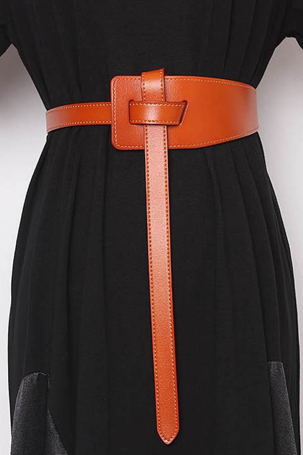 원꼬임매듭 와이드 여성벨트 (8color)