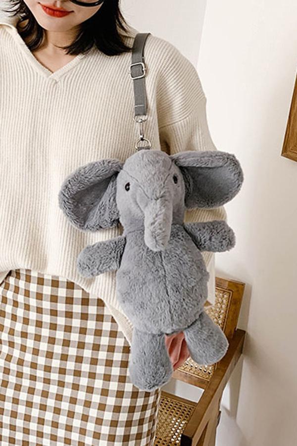 끼리끼리 코끼리 인형 쿠션 크로스백