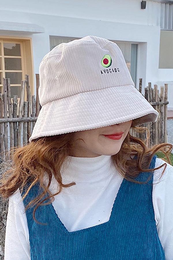 아보카도 귀요미 코듀로이 벙거지모자 (5color)