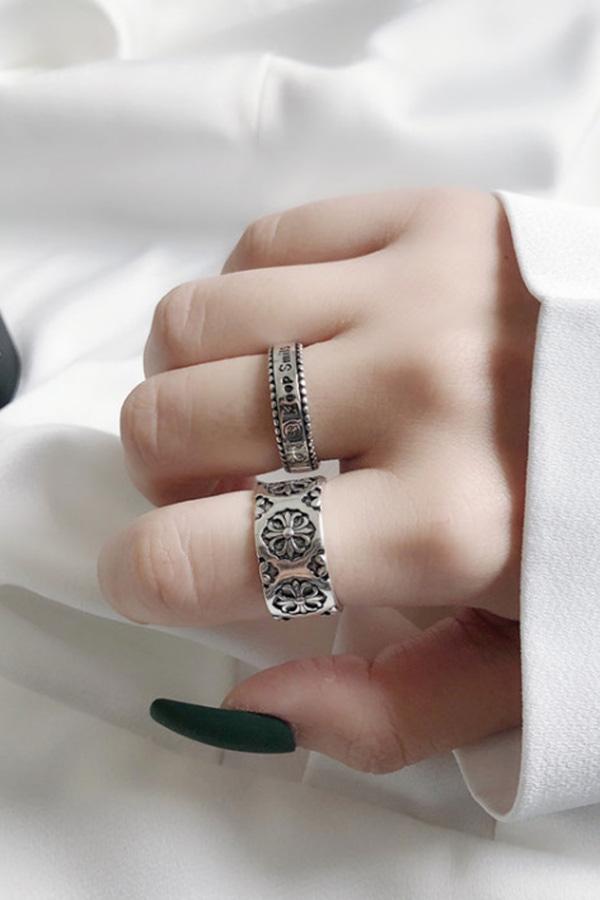 스마일 둥글 포인트 반지